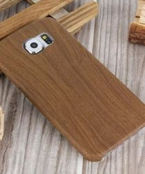 Samsung Galaxy S6 Leather Coated Wood Case Bruin