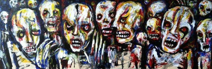 Jack Larson Zombie Art Original Painting
