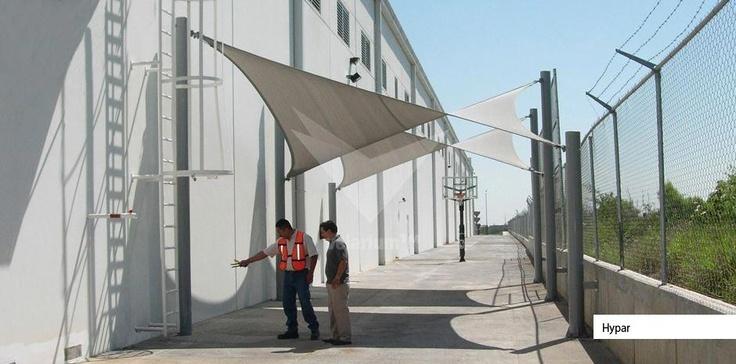 Satisfacción para sus empleados  - Velarium. #sol #proteccion #comercial #estructuras #shadeports