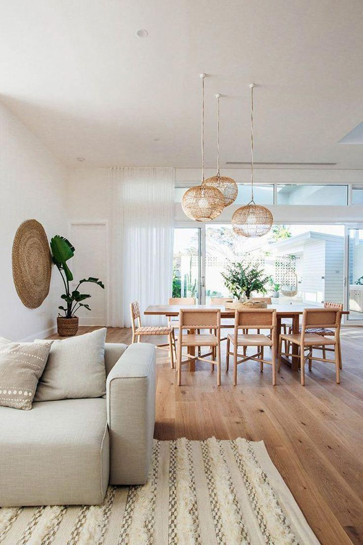 modern boho dining room #livingroomdecoration - #boho # ...