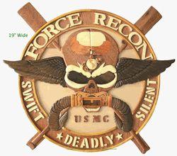 MARINE CORPS FORCE RECON EMBLEM | USMC RECON JACK PLAQUE