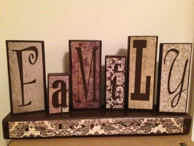 Wood block words by rachelsvinylcrafts on etsy for Wooden blocks craft supplies