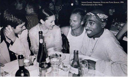 Старые фотографии знаменитостей Ингрид Казарес, Мадонна, Стинг, Тупак Шакур