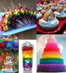 Rainbow Theme Food Ideas Rainbow And Noah Ark Baby