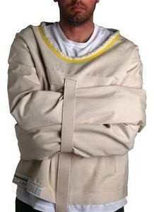 straight jacket pattern/Halloween asylum