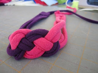 knotted jersey headband tutorial - no sewing
