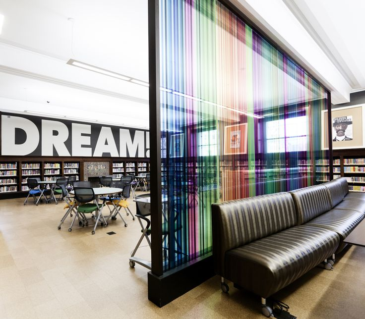 st louis public library - Teen Lounge Rainbow Wall