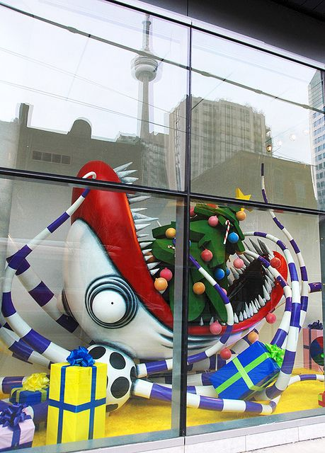 Tim Burton's Christmas vision for his Toronto exhibition at the TIFF lightbox.
