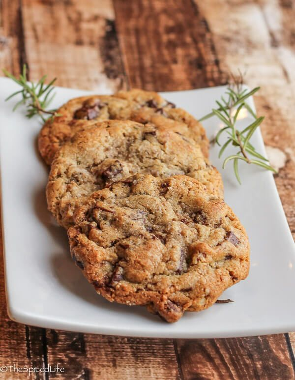 Rosemary Bourbon Chocolate Chunk Cookies with Pecans and Smoked Sea ...