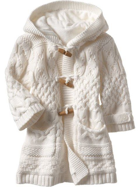 International Knitting Patterns, knit baby Aran coat pattern