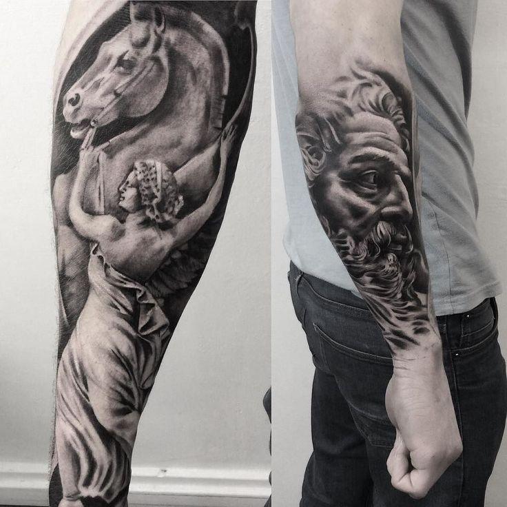 Best 25+ Statue Tattoo Ideas On Pinterest