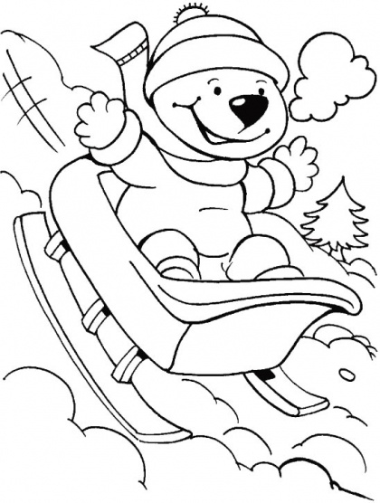 9 best winter coloring pages images on