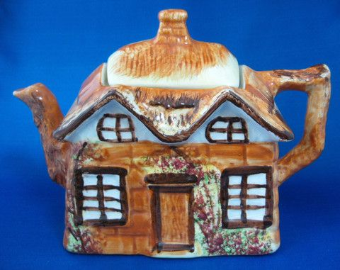 Cottage Ware Teapot With Cream And Sugar Price Kensington Vintage 1950s Cottageware