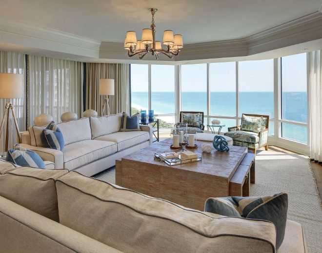Florida Beach Condo Living Room