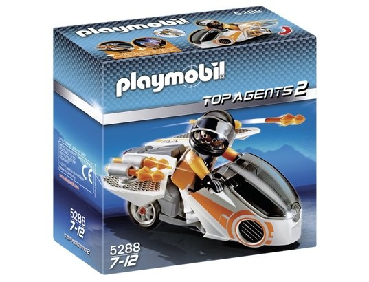 Jeu de construction PLAYMOBIL (2013)  5288 - Moto et Agent Secret