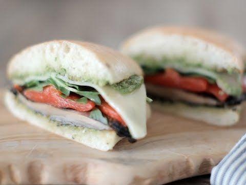 The Pesto Portobello Burger - YouTube