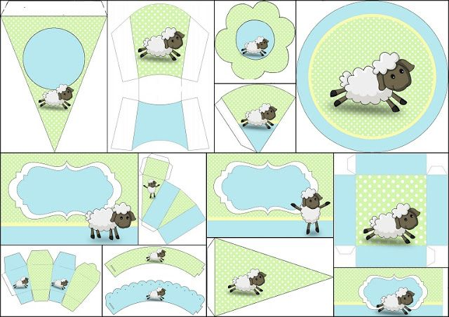 Precioso Kit de Ovejitas para Niños para Imprimir Gratis.