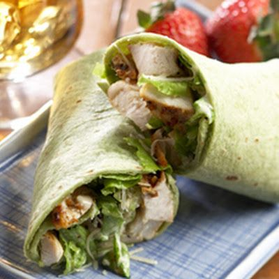 perfect for Chris lunch with left over Chicken Wraps with the low fat cilantro ceaser dressing