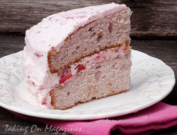 Strawberry Dream Cake via Taking On Magazines