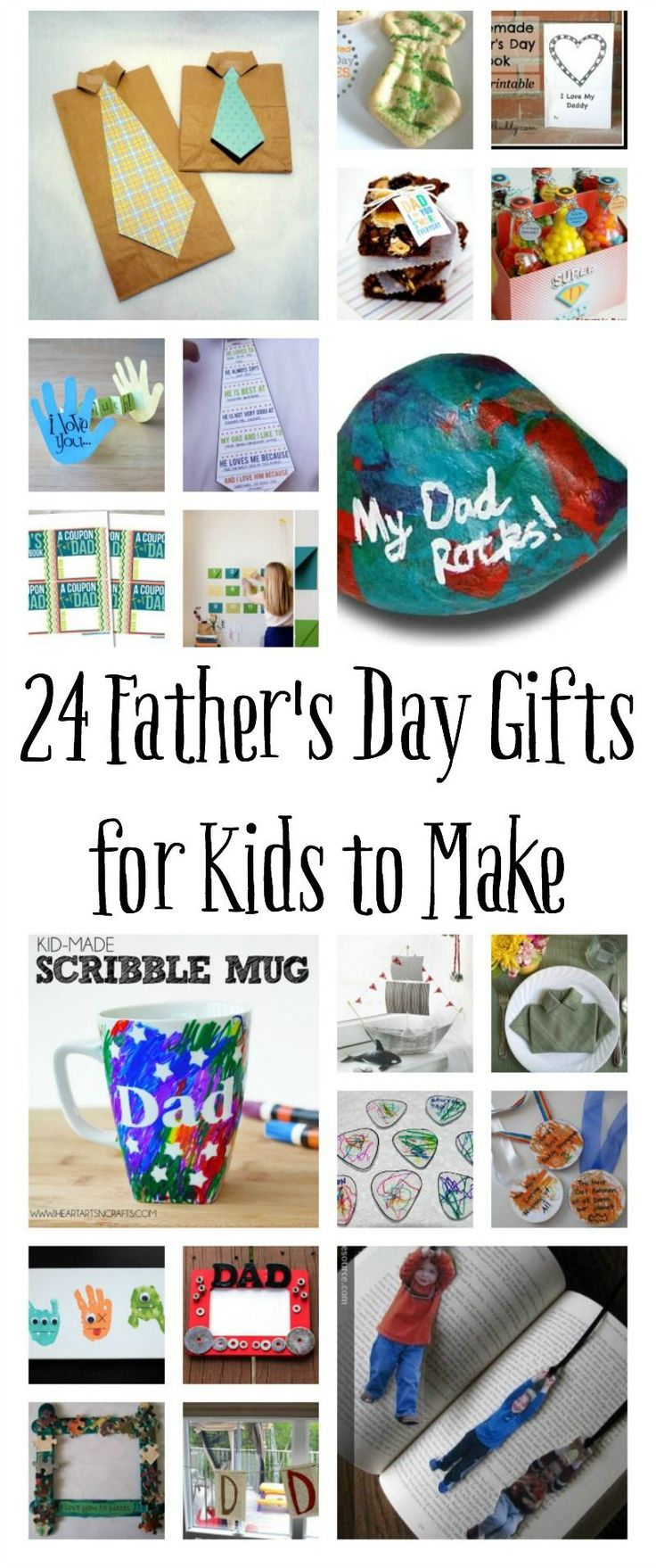 These are perfect for any time you need a gift for Dad. Father's Day Crafts for Kids!