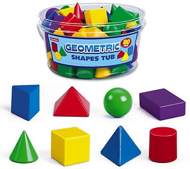 Lakeshore's 3-D Geometric Shapes Tub gives kids a hands-on introduction to geometry concepts! #BacktoSchool