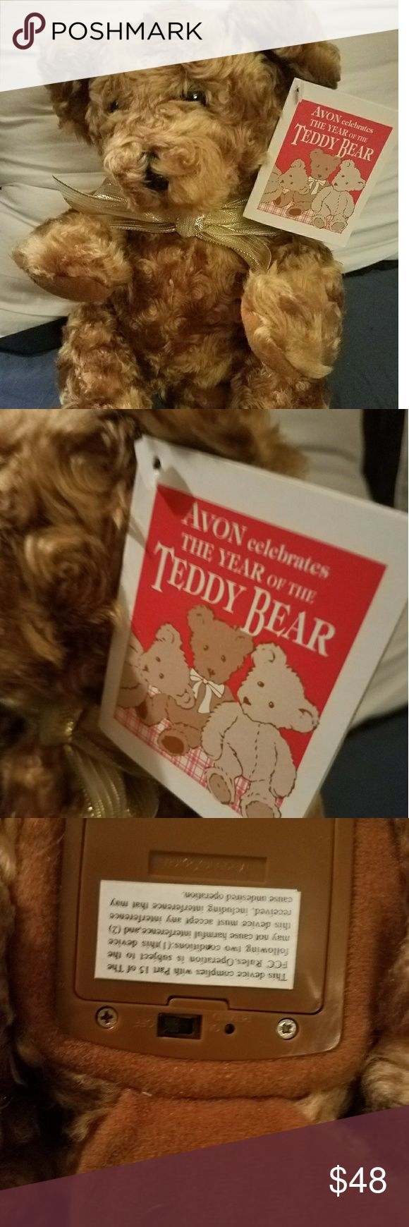 NWT THE YEAR OF THE TEDDY BEAR! Rare Avon the year of the teddy bear talking teddy bear  Collectors pieces  Pristine condition  Smoke free home Avon Other