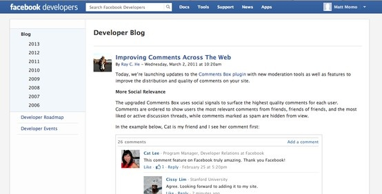 Facebook    Improving Comments Across The Web