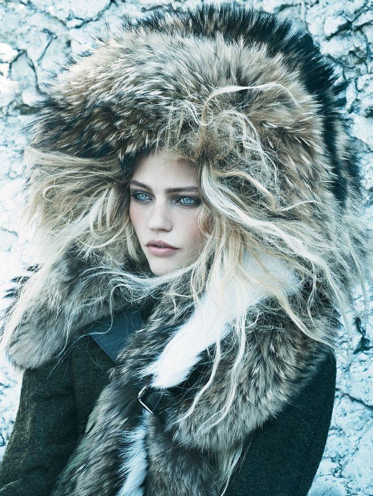 Call Of The Wild: Sasha Pivovarova for Vogue US September 2014 by Mikael Jansson