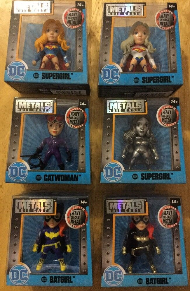 Lot of 6 DC Metals Die Cast Figures BATGIRL SILVER CHASE SUPERGIRL CATWOMAN New #JadaToys