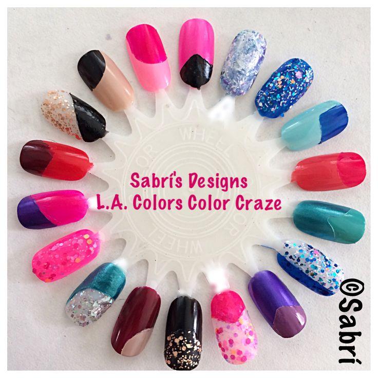 @lacolorscosmetics: My new #naildesigns: #geometric #popart #glitter #boldcolor #nailart featuring #lacolorscosmetics #colorcraze. #Nails #Uñas #Unghie #Ongles #Unhas #Nailpolish #Esmalte #Smalto #Émail. #Beauty #Belleza #Bellezza #Beauté #Beleza #Cosmetics #Cosméticos #Cosmetici #fabat40.