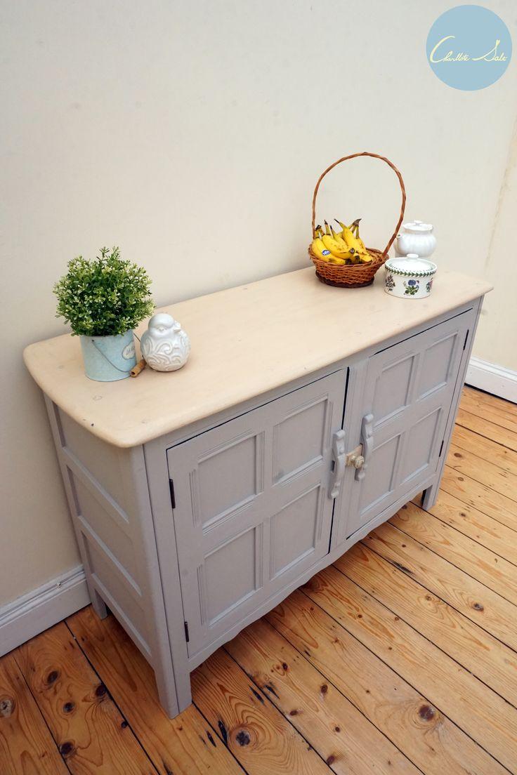 Laura Ashley Dark Dove Grey Painted Ercol Sideboard cupboard