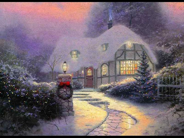 Share your love and faith this holiday season with these beautiful Christmas cards, featuring the work of renowned artist Thomas Kinkade. Description from pinterest.com. I searched for this on bing.com/images