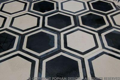 popham design | honeycomb hex in kohl/milk