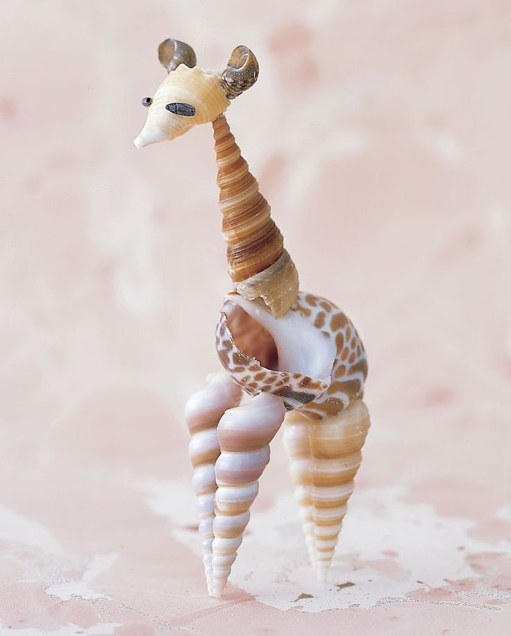 Seashell Giraffe. Page has other ideas as well.