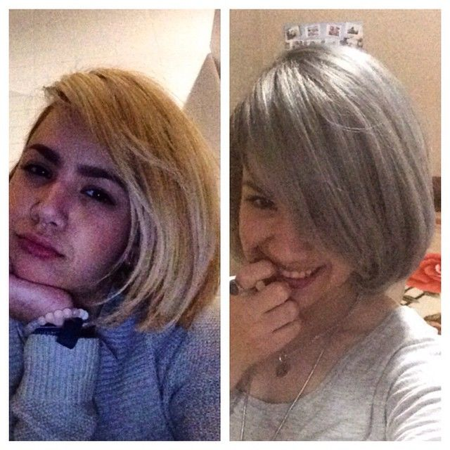 From Blonde To Silver Hari Transformation Hair And