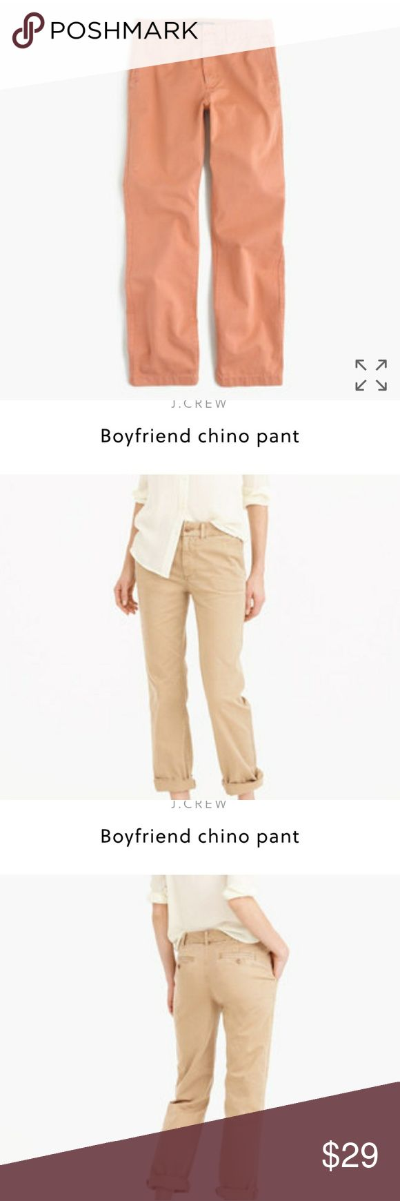 J. Crew Boyfriend chino pant Color sundrenched clay. Smoke free home. Offers welcome. J. Crew Pants