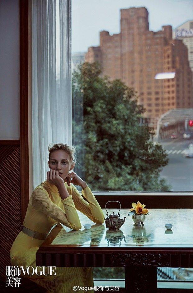 Саша Пивоварова и Аня Рубик в Vogue China (Интернет-журнал ETODAY)
