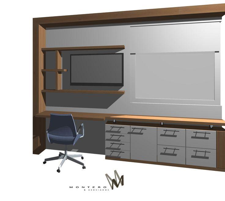 Mural escritorio para un dormitorio en www.cristianmontero.cl