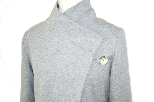 Kurzjacken - Origami Sweatshirt Jacke Gr.XS-L grau meliert - ein Designerstück von Rosenrot-Modedesign bei DaWanda