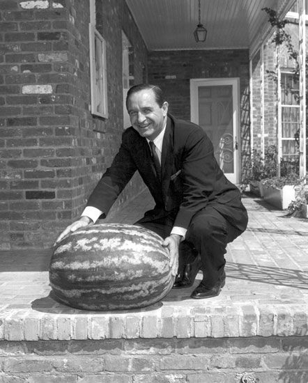 Orval Faubus with Hope Melon - Encyclopedia of Arkansas
