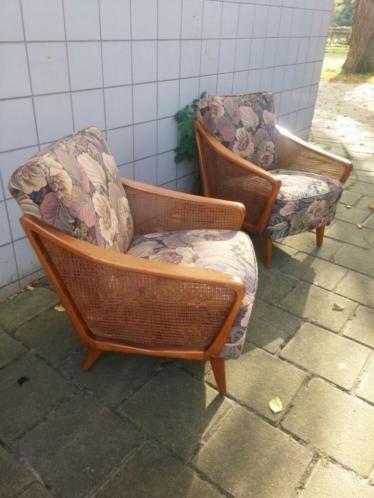 Vintage fauteuils. Jaren 60-70. Evt ook los te koop. Bieden.