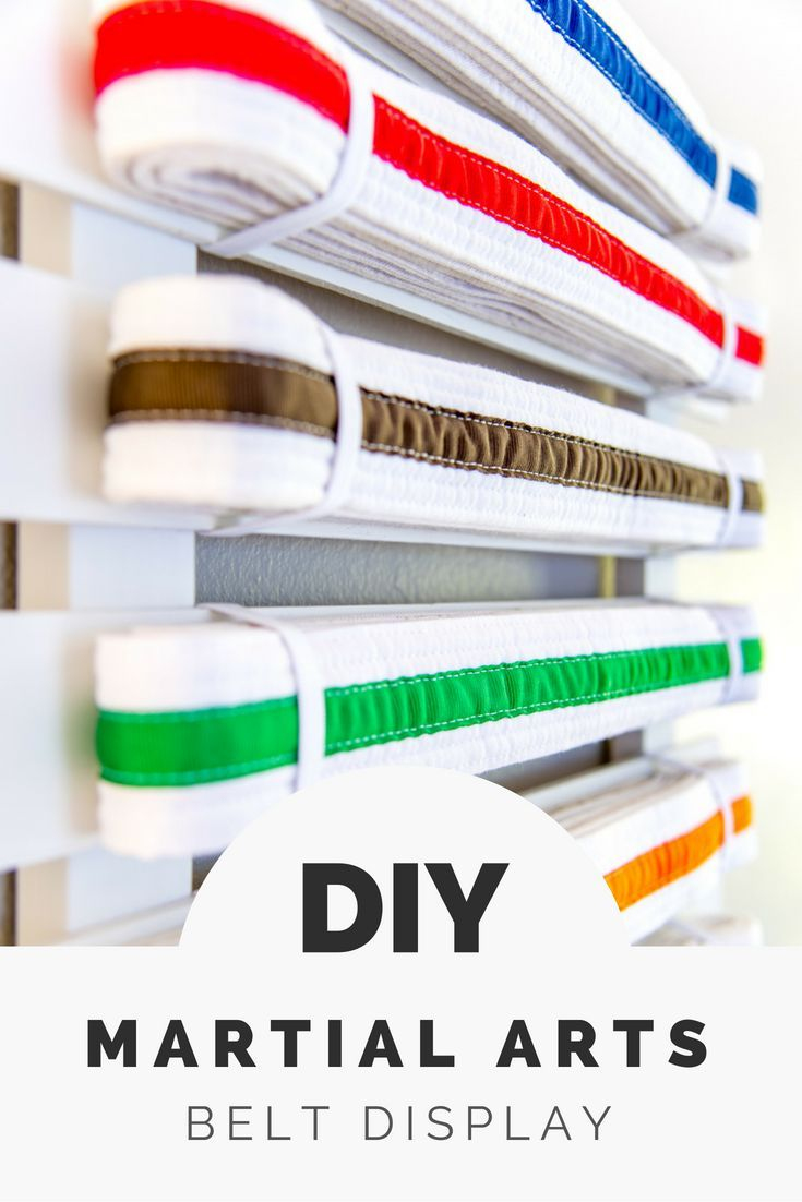 DIY Woodworking Ideas Show off your accomplishments with this DIY martial arts belt display! Add belts...