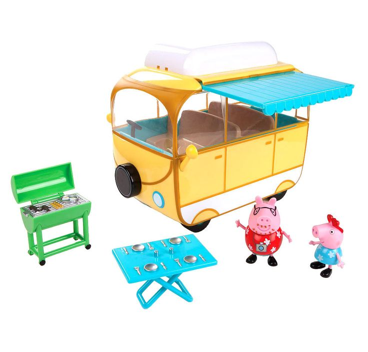 Peppa Pig Family Camper Van Playset Pretend Play Figures Toy Kids Christmas Gift #Unbranded