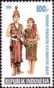 Indonesia Stamp 1991 - Indonesian Costumes Pengantin Kalimantan Barat