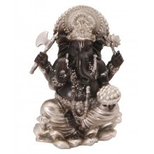 Chocolate and Silver Ganesh Statue