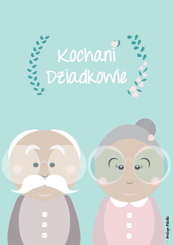 Plakaty i kartki do druku na Dzień Babci i Dziadka :) #plakatydladzieci