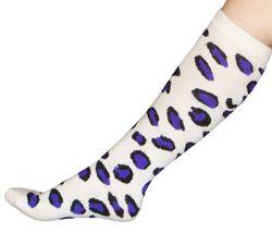 Purple Cheetah Animal Print Knee Socks