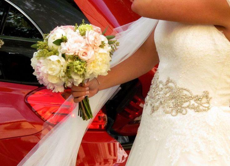 http://www.pecci.es wedding, bridal bouquet, ramo de novia . Peonias, rosa inglesa, hortensia, hydragea