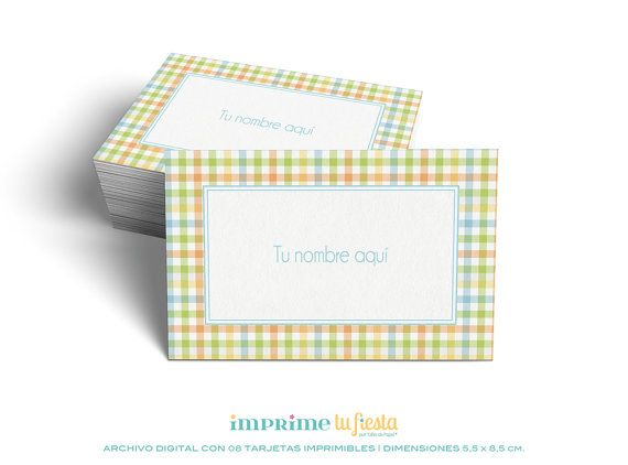 Printable BUSINESS CARDS | Design For Kids | Pastel Stripes | Prints as many times you want | 8 Completely CUSTOMIZED cards for you!