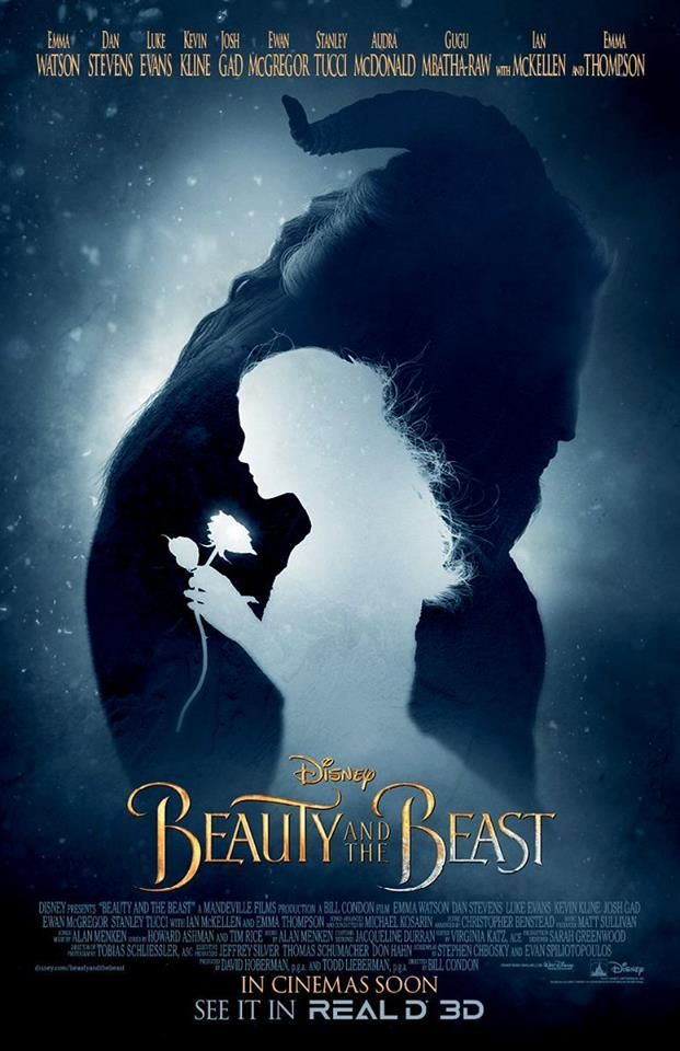 Directed by Bill Condon.  With Emma Watson, Dan Stevens, Luke Evans, Josh Gad. An adaptation of the Disney fairy tale about a monstrous-looking prince and a young woman who fall in love.